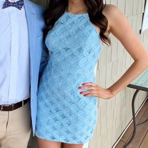 Blue Lace Charlotte Russe Dress